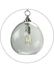 Round Glass Bulb Ceiling Lamp