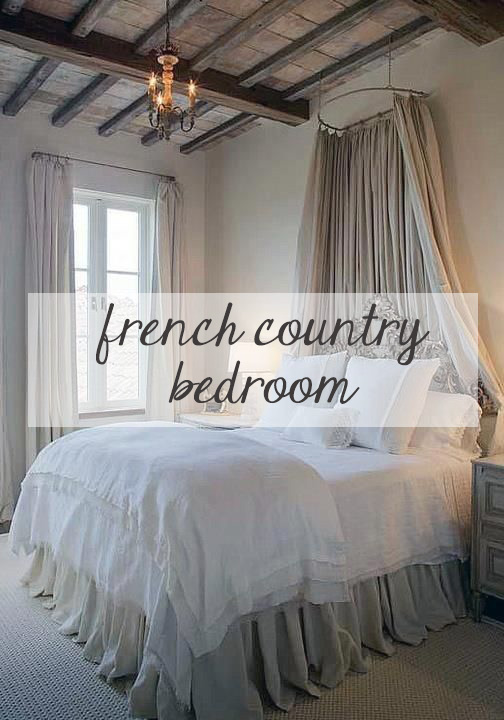 Decorating a french country bedroom for Bed styles images