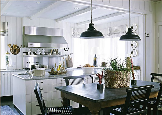 White French Country Kitchen Design