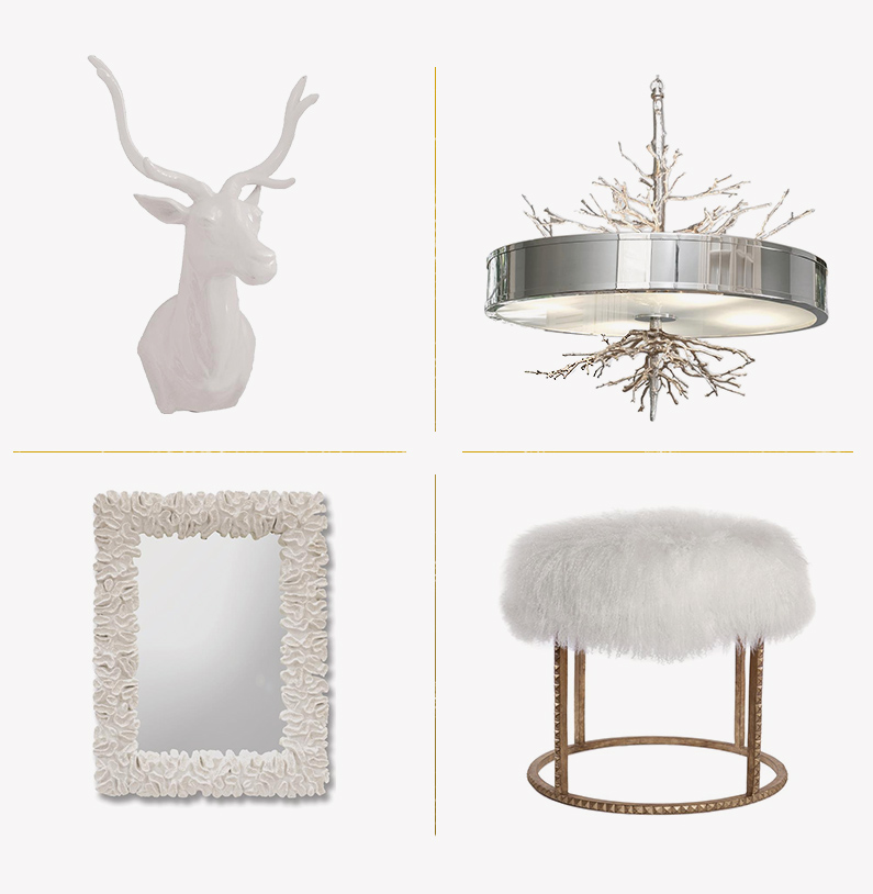 all white holiday decor