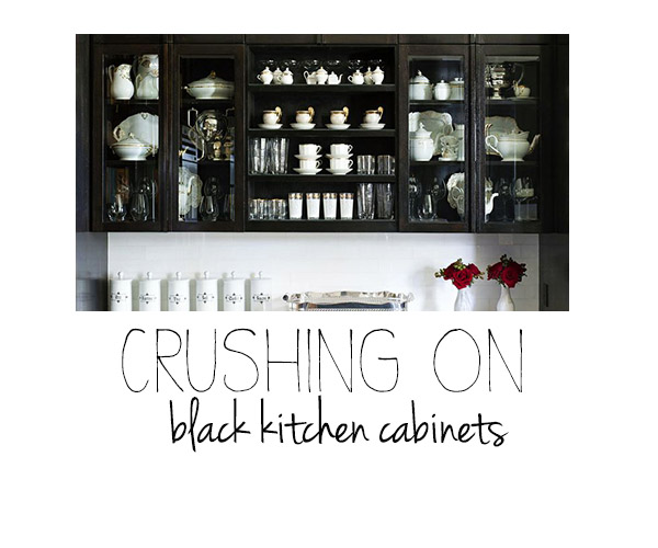 Crushing on: Black Kitchen Cabinets