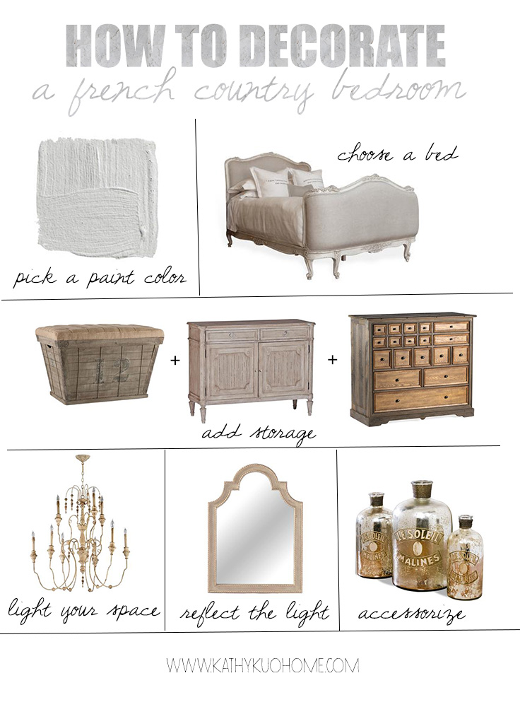 Decorate a French Country Bedroom
