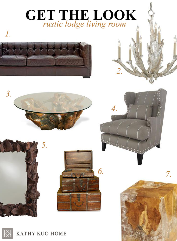 Rustic Lodge Style Living Room Decor