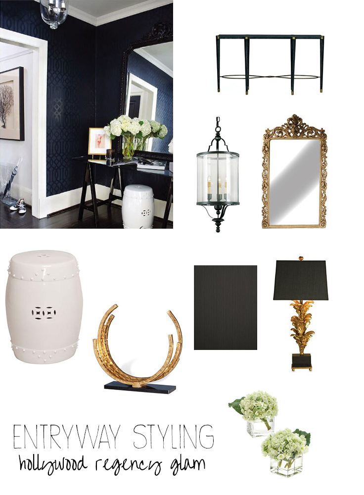 Decorate Your Entryway Hollywood Regency