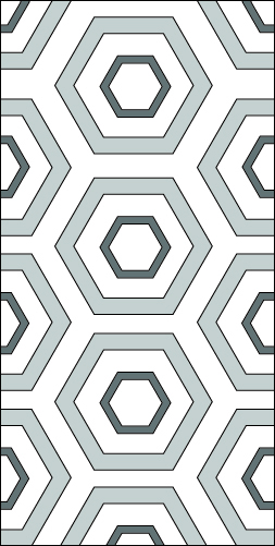 Geometric Tonal Grey Painted Floor Design