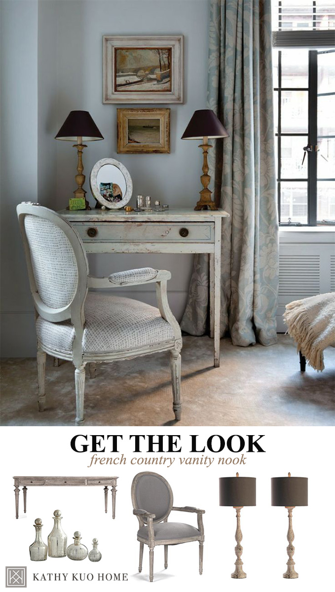 French Country Vanity Decor
