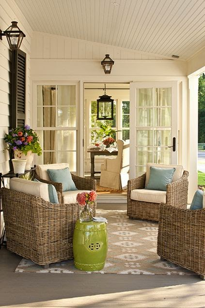 how to decorate with garden tools - living room