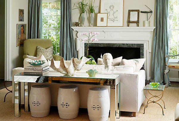 how to decorate with garden stools - indoors