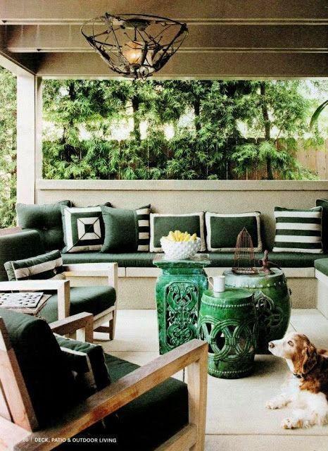 how to decorate with garden stools - outdoor patio