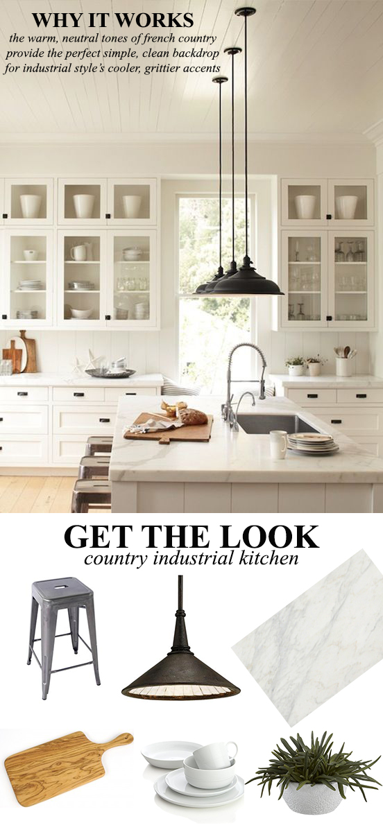 How to Design a French Country Industrial Kitchen