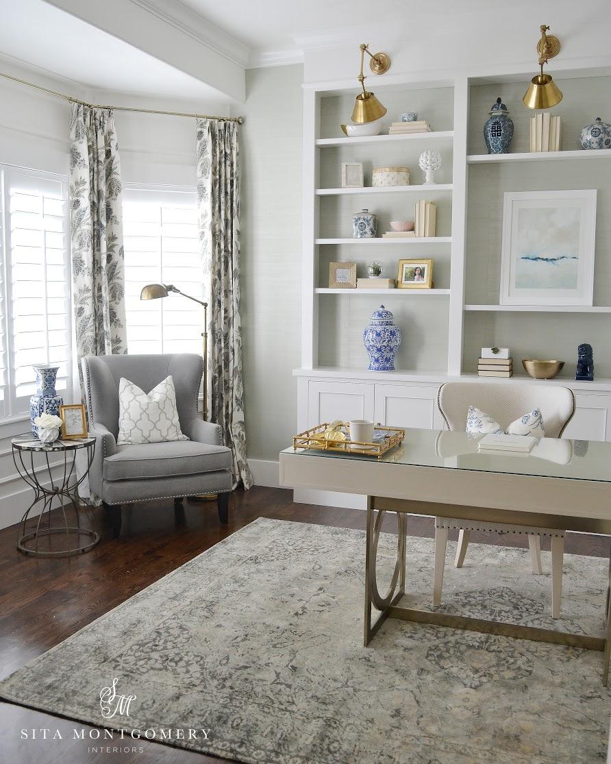 grey sofa office