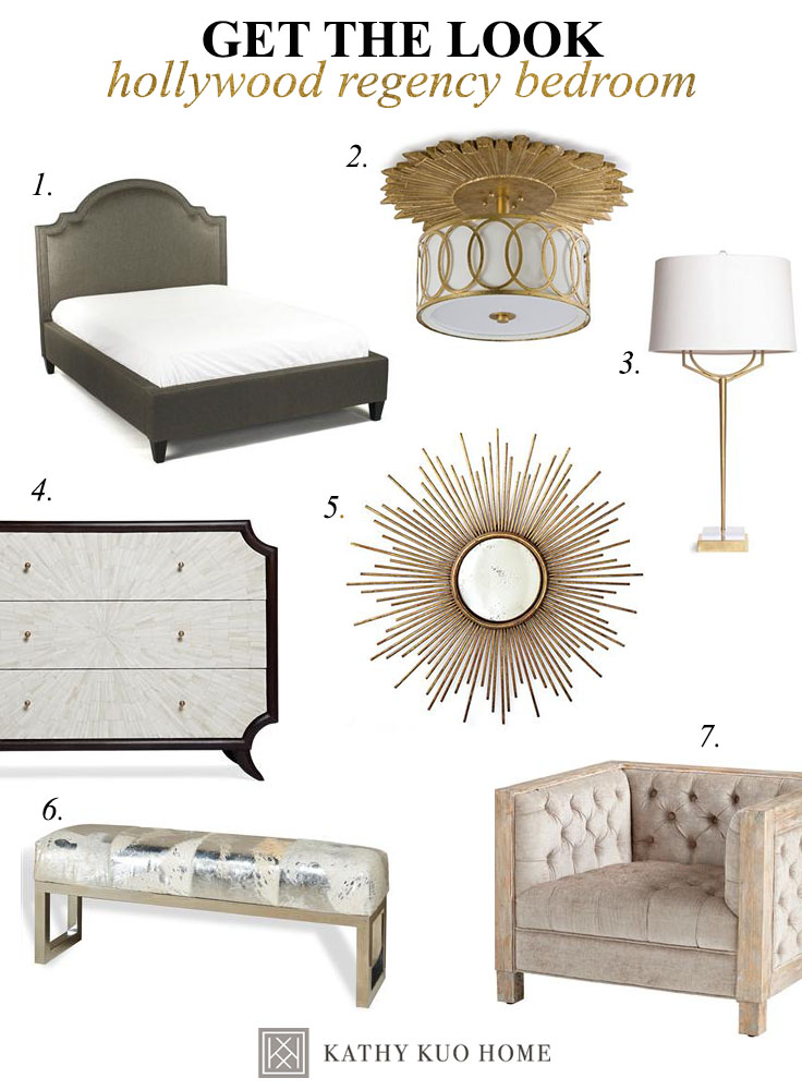 Decorate a Hollywood Regency Bedroom