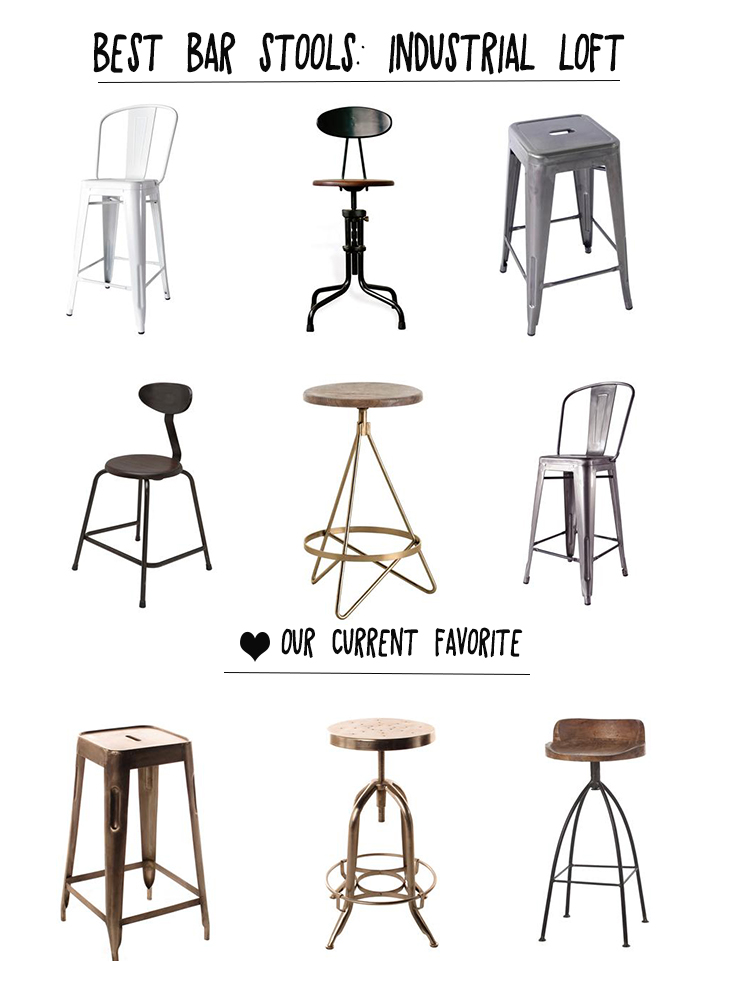 Industrial style bar stools our top picks kathy kuo for Industrial design bar stools
