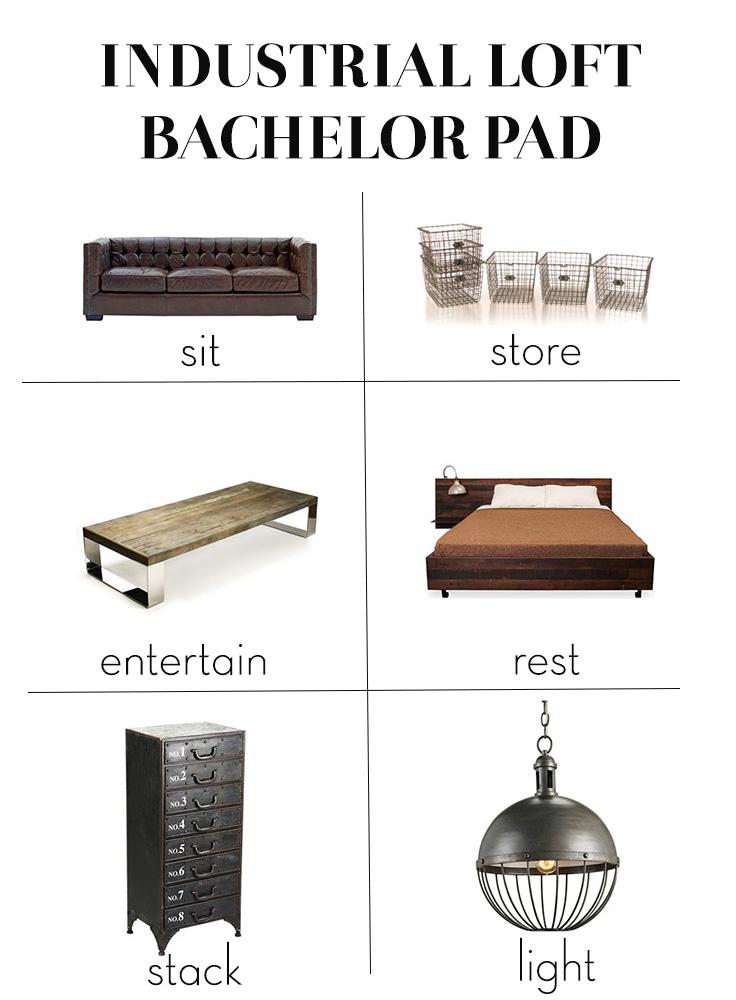 Industrial Loft Bachelor Pad