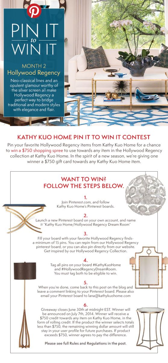 Pin it to win Hollywood Regency item