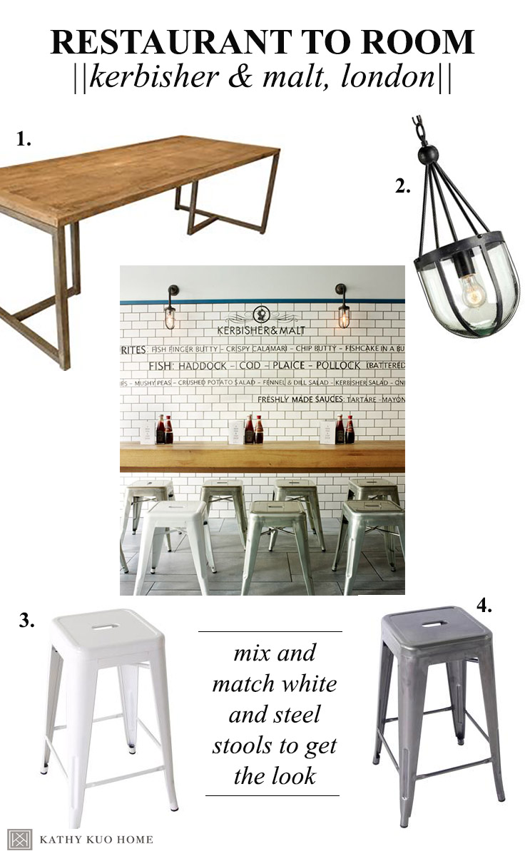 Kerbisher and Malt Industrial Designed Restaurant How to Get the Look