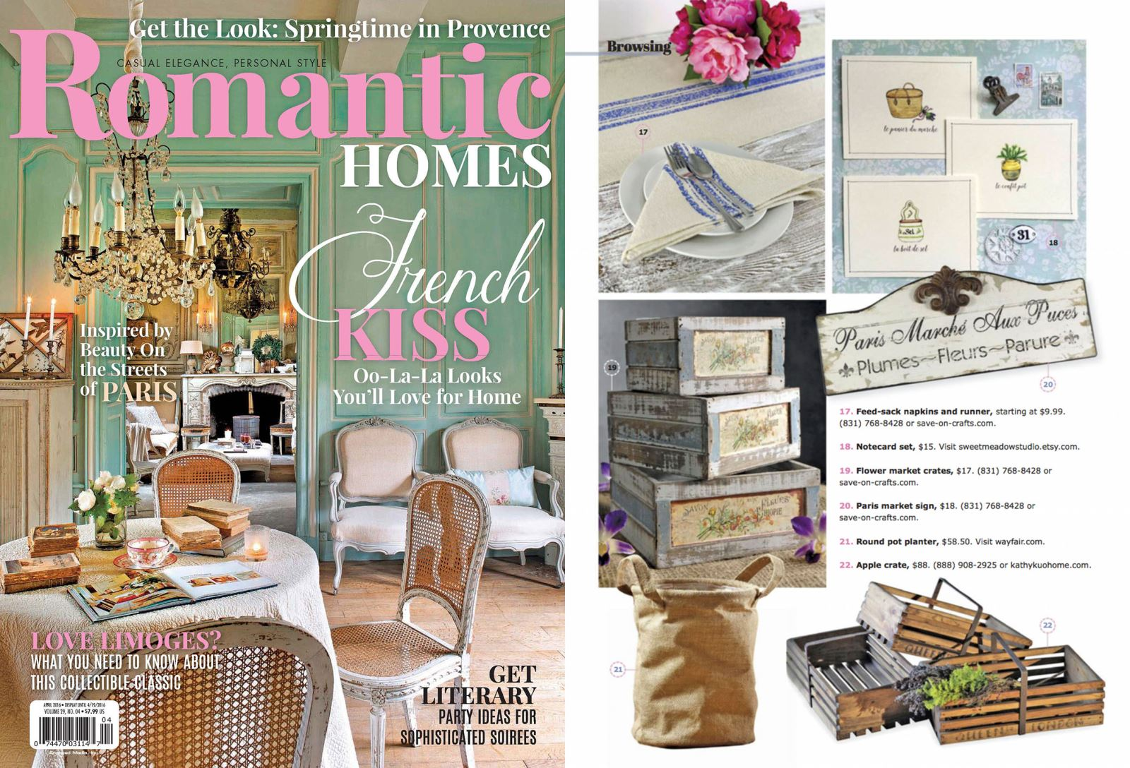 Kathy Kuo Home in Romantic Homes
