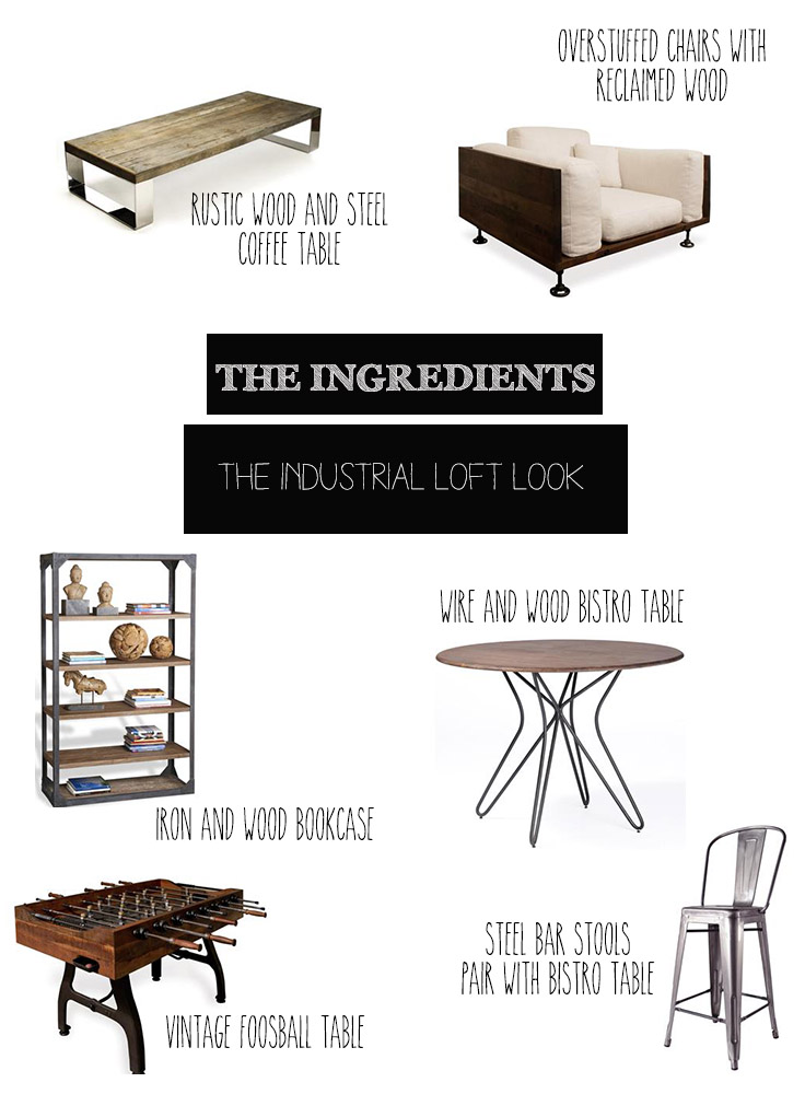 Pieces to Help You Decorate in Industrial Loft Style