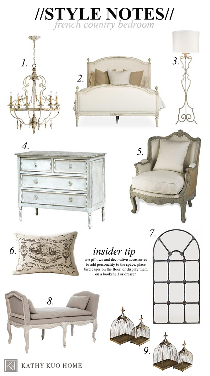 Style Notes: Designing a French Country Bedroom | Kathy Kuo ...