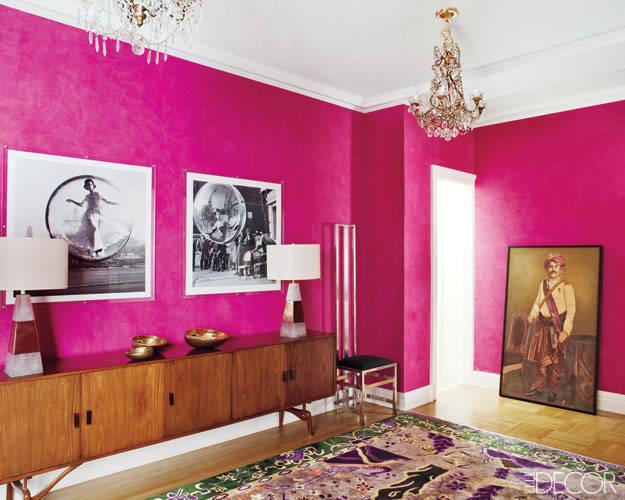 pink wall bedroom