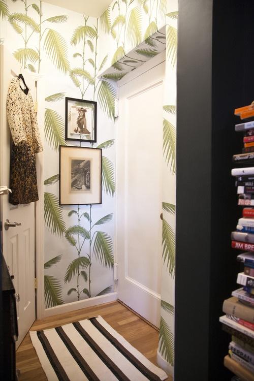 Small space living hallway art
