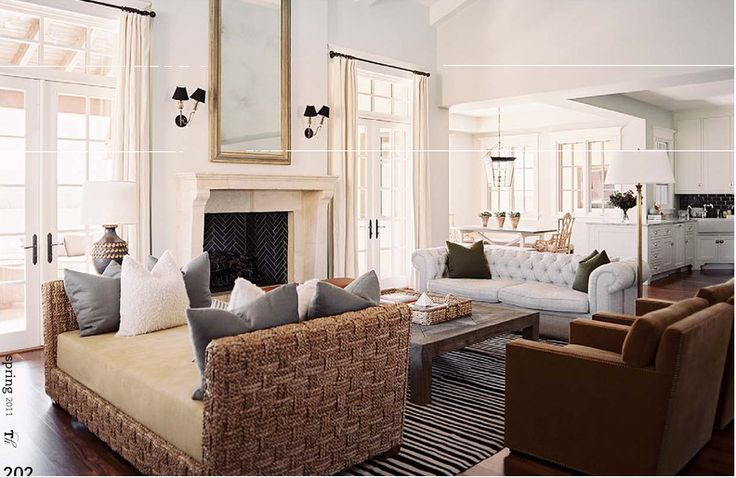 Crushing On: Neutral Living Room Design Ideas