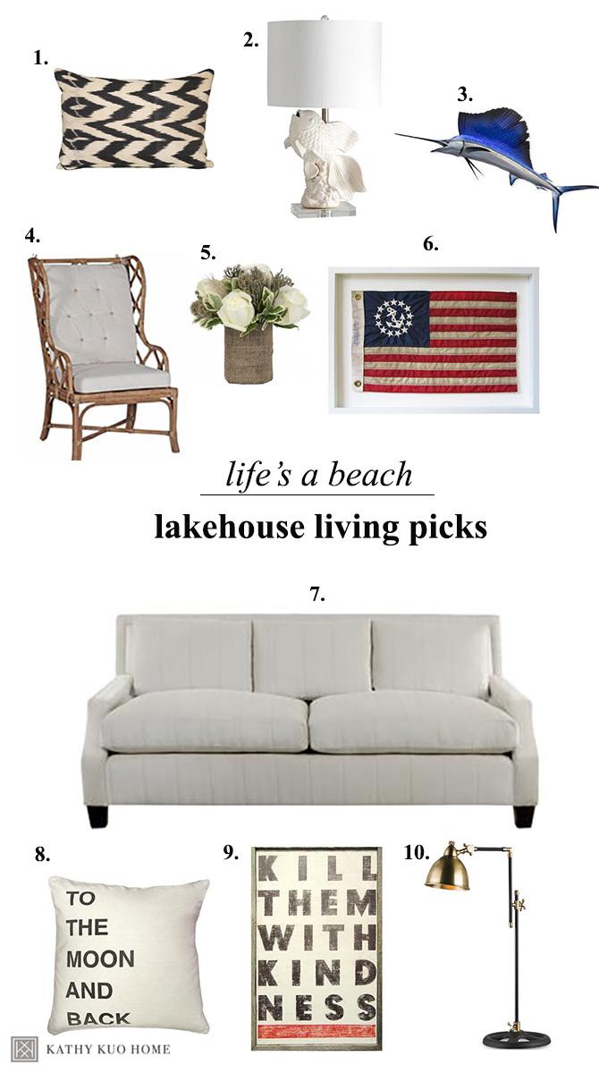 lake house decor items