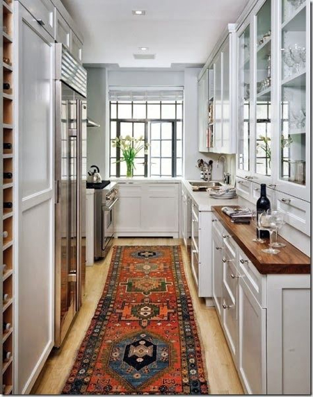 Crushing on: Kitchen Decorating Ideas with Kilim Rugs | Kathy Kuo Home