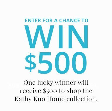 enter for a chance to win $500 | Kathy Kuo Home