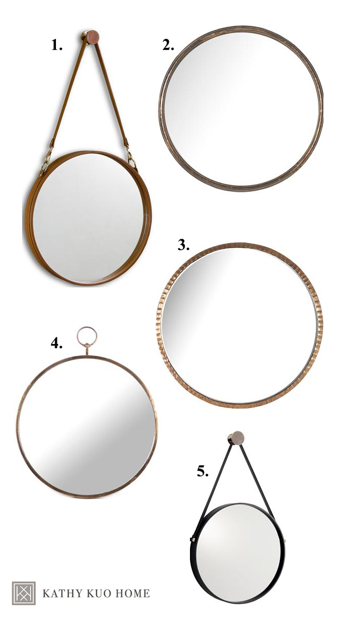 top five oversized round mirrors kathy kuo
