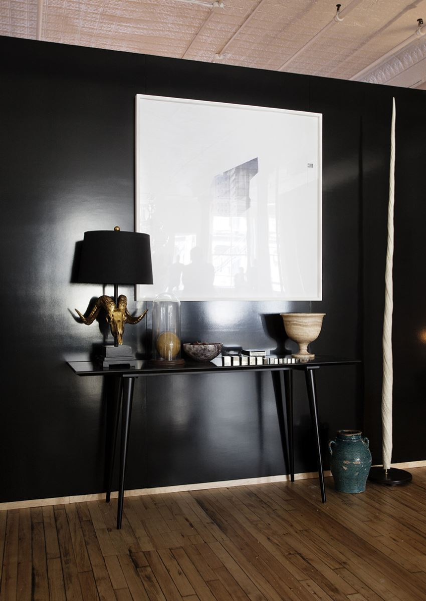 styled entryway table