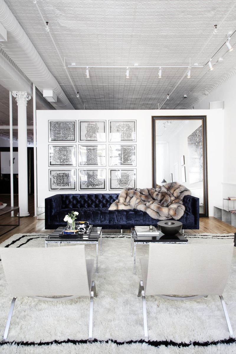 chic living room interior
