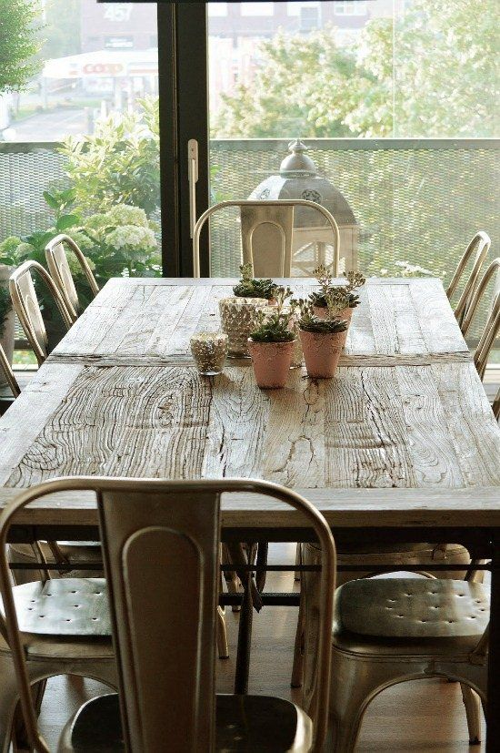 industrial style dining rooms