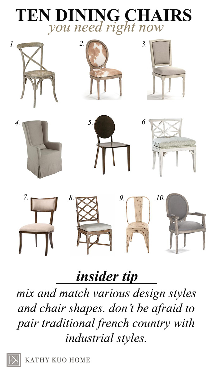 ten best dining chairs at kathy kuo home