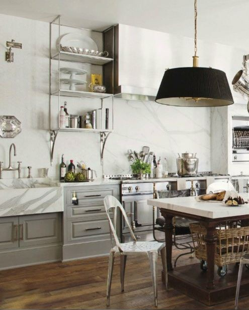 get the look french industrial country kitchen kathy