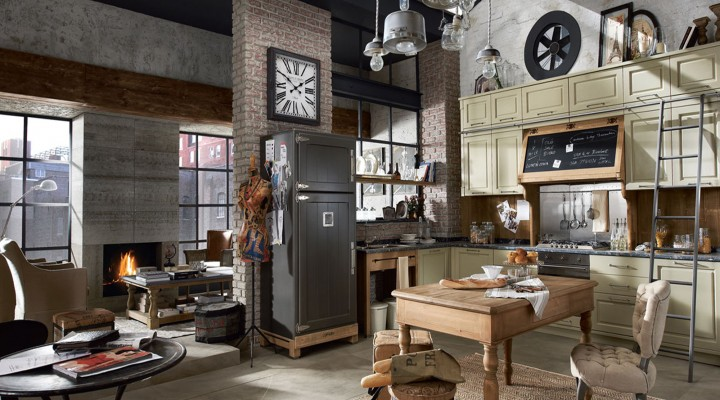 Industrial Bachelor Loft: Bachelor Pad Design Ideas