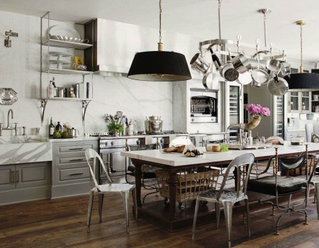 French Industrial Country Kitchen