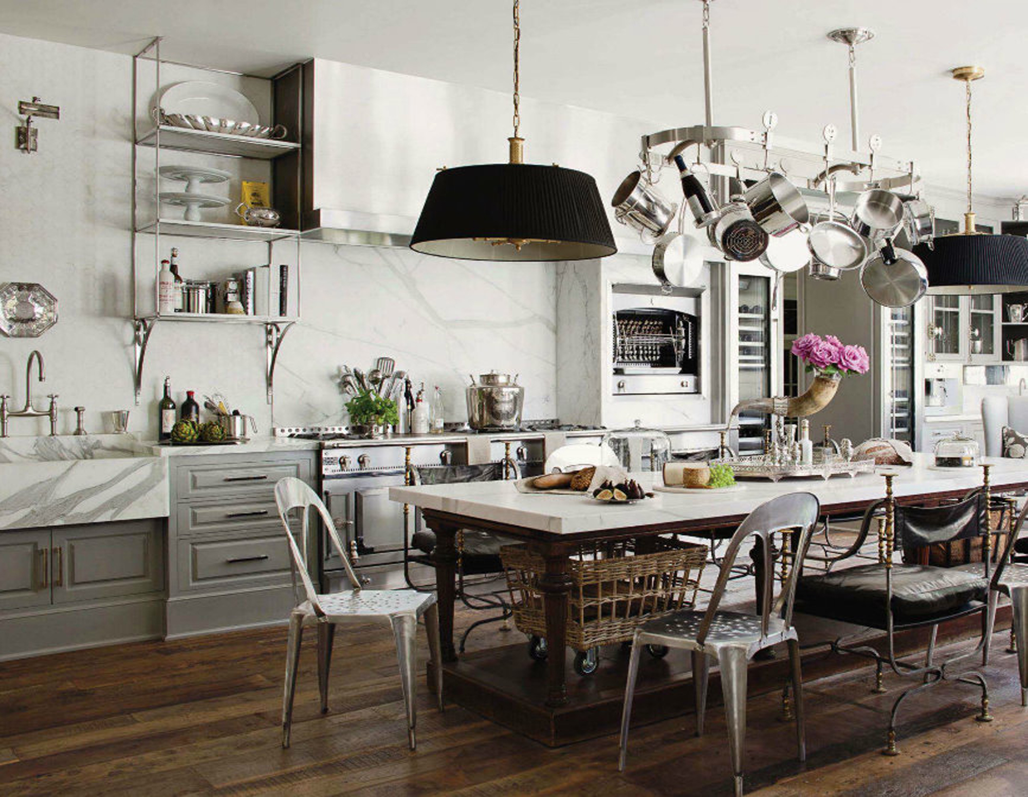 30 Ways To Create A Trendy Industrial Dining Room: French Industrial Country Kitchen
