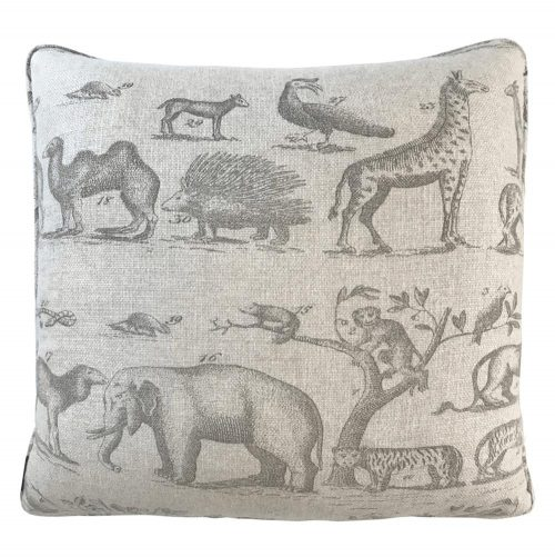 Jungle Global Bazaar Beige Animal Inspired Square Pillow
