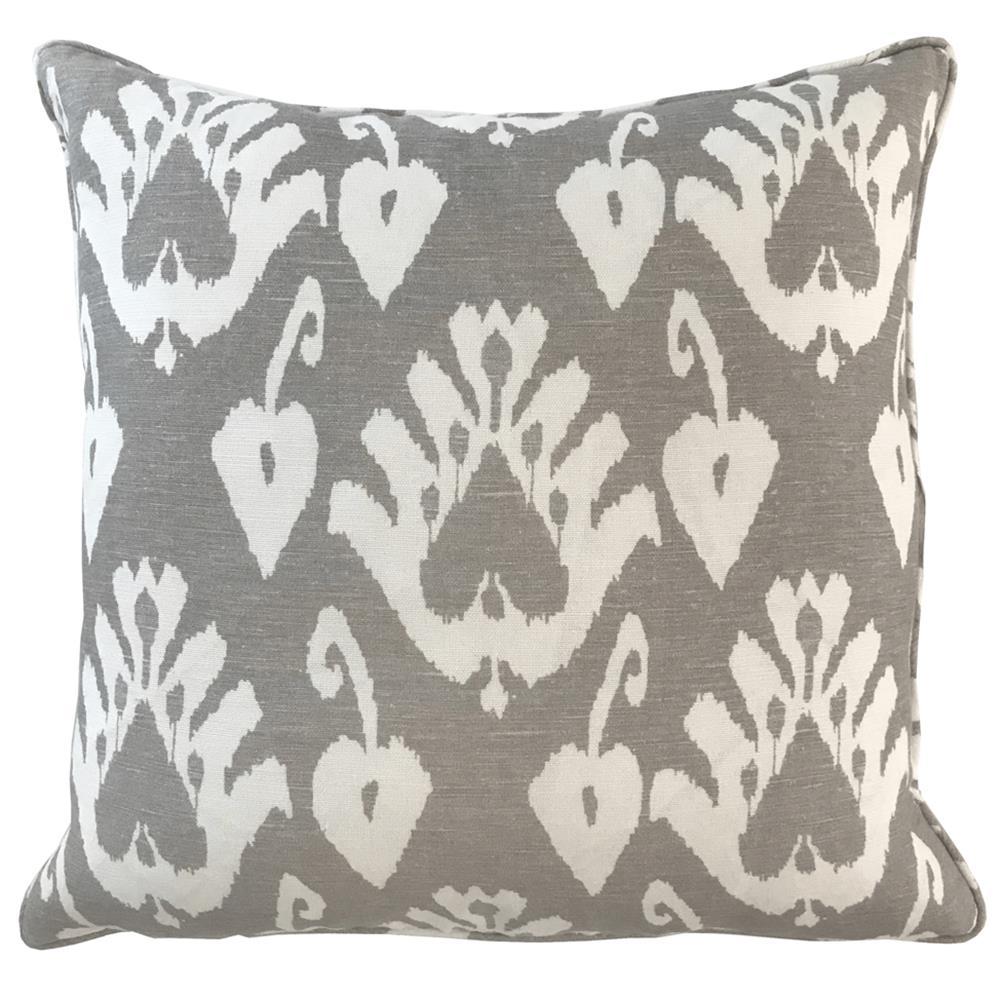 Giza Global Bazaar Taupe Patterned Square Pillow