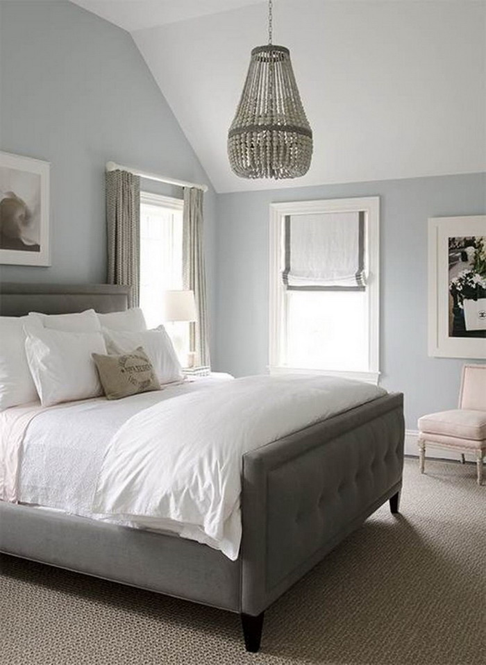 Simple Classic Bedroom In Soft Grey Theme