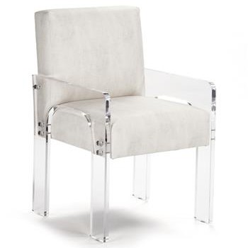 Modern Art Deco Acrylic Arm Chair