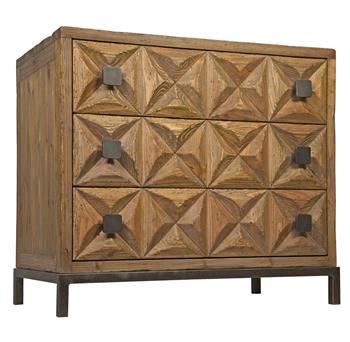 Bindy Global Bazaar Reclaimed Wood 3-Drawer Dresser