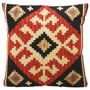 Ataylana Black & Red Kilim Pillow