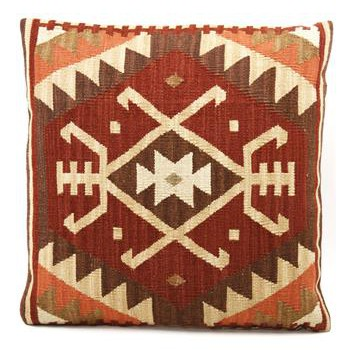 Beren Rust Kilim Wool Pillow