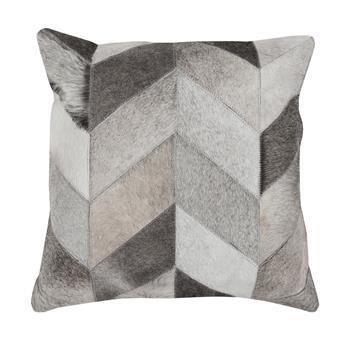 Dakota Rustic Lodge Chevron Hair on Hide Pillow