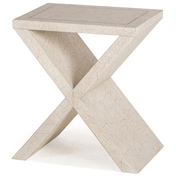 Eva-Modern-Classic-Antique-Ivory-Cross-Base-Side-Table-11236