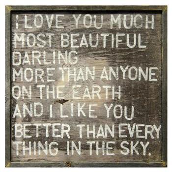 I Love You Much Reclaimed Wood Wall Art Print