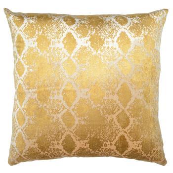 Jem Boa Print Gold Satin Pillow