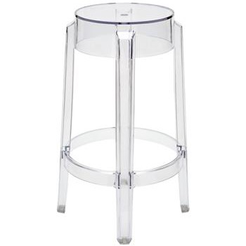 Clear Acrylic Modern Round Counter Stool